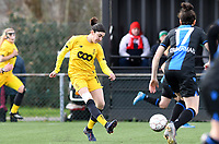 20200329 – BRUGGE, BELGIUM : Noemie Gelders pictured during a women soccer game between Dames Club Brugge and Standard Femina de Liege on the 17 th matchday of the Belgian Superleague season 2019-2020 , the Belgian women's football  top division , saturday 29 th February 2020 at the Jan Breydelstadium – terrain 4  in Brugge  , Belgium  .  PHOTO SPORTPIX.BE | DAVID CATRY