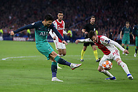 Son Heung-Min of Tottenham Hotspur and Nicolas Tagliafico of Ajax during AFC Ajax vs Tottenham Hotspur, UEFA Champions League Football at the Johan Cruyff Arena on 8th May 2019