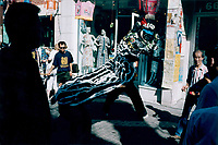 July 1995 file photo, Montreal, Quebec, Canada<br /> <br /> People look at the Dragon dance  in Montreal's Chinatown.<br />  <br /> <br /> Mandatory Credit: Photo by Pierre Roussel- Images Distribution. (&copy;) Copyright by Pierre Roussel <br /> ON SPEC<br /> NOTE 8x10 print scanned AND,saved in Adobe 1998 RGB.