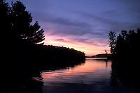 Sunset over Haliburton Highlands lake - horizontal format