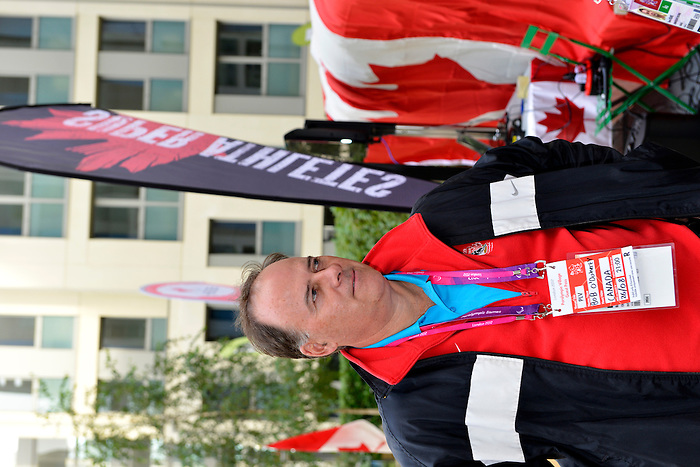 LONDON, ENGLAND 26/08/2012 - Bob O'Doherty takes in the festivities at Canada House before the flag raising ceremony at the London 2012 Paralympic Games. (Photo: Phillip MacCallum/Canadian Paralympic Committee)