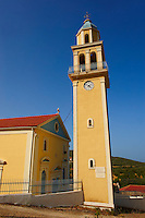 Orthodox church Bell Towers. Kefalonia, Ionian Islands, Greece.