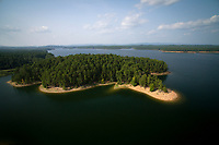 Lake Ouachita, Arkansas is pictured from the air on Wednesday, Aug. 22, 2018. (Photo by James Brosher)