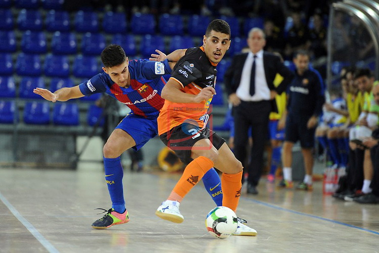 League LNFS 2016/2017 - Game 6.<br /> FC Barcelona Lassa vs Aspil Vidal Ribera Navarra: 7-1.<br /> Adolfo vs Hamza.