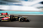 Romain Gorsjean of France and Lotus F1 Team drives during the Abu Dhabi Formula One Grand Prix 2013 at the Yas Marina Circuit on November 3, 2013 in Abu Dhabi, United Arab Emirates. Photo by Victor Fraile / The Power of Sport Images