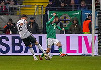 Leon Goretzka (Deutschland, Germany) erzielt das Tor zum 5:1 durch die Beine von Michael Smith (Nordirland, Northern Ireland) - 19.11.2019: Deutschland vs. Nordirland, Commerzbank Arena Frankfurt, EM-Qualifikation DISCLAIMER: DFB regulations prohibit any use of photographs as image sequences and/or quasi-video.