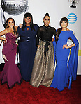 PASADENA, CA - FEBRUARY 11: (L-R) TV personalities Adrienne Bailon, Loni Love, Tamera Mowry and Jeannie Mai  arrive at the 48th NAACP Image Awards at Pasadena Civic Auditorium on February 11, 2017 in Pasadena, California.