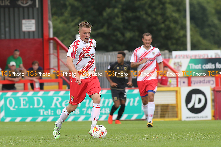 Tom Conlon of Stevenage in action during Stevenage vs MK Dons, Friendly Match Football at the Lamex Stadium on 30th July 2016