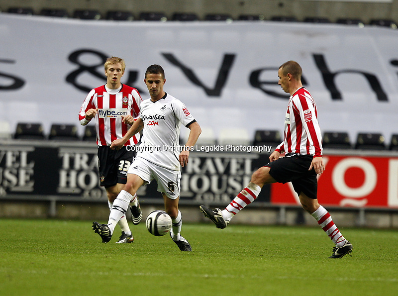 Pictured: Ferrie Bodde of Swansea City in action <br /> Re: Coca Cola Championship, Swansea City Football Club v Southampton at the Liberty Stadium, Swansea, south Wales 25 October 2008.<br /> Picture by Dimitrios Legakis Photography, Swansea, 07815441513