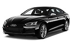 2017 Audi S5 Sportback Base 5 Door Hatchback angular front stock photos of front three quarter view