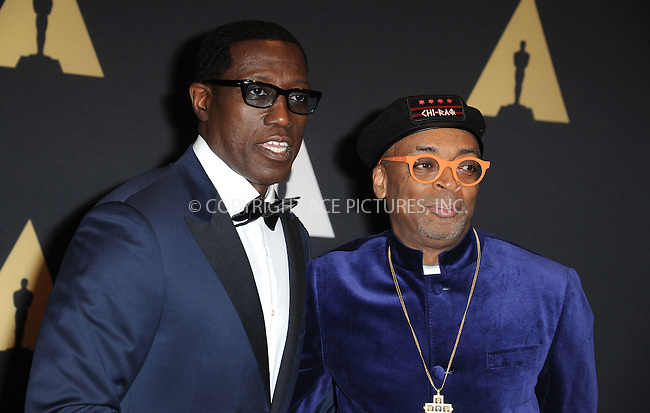 WWW.ACEPIXS.COM<br /> <br /> November 14 2015, LA<br /> <br /> Wesley Snipes, Spike Lee arriving at the Academy of Motion Picture Arts and Sciences' 7th Annual Governors Awards at The Ray Dolby Ballroom at the Hollywood &amp; Highland Center on November 14, 2015 in Hollywood, California<br /> <br /> <br /> By Line: Peter West/ACE Pictures<br /> <br /> <br /> ACE Pictures, Inc.<br /> tel: 646 769 0430<br /> Email: info@acepixs.com<br /> www.acepixs.com