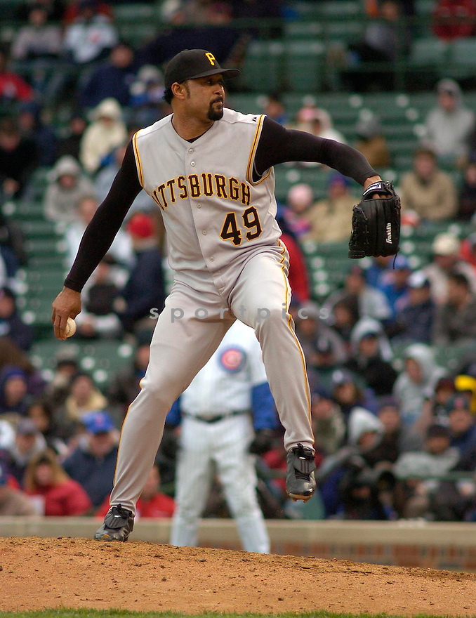 Jose Mesa during the Pittsburgh Pirates v. Chicago Cubs game on April 23, 2005.....Pirates won 4-3.....Chris Bernacchi  / SportPics........