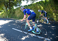 Sam Hill (Nero Bianchi) and Ryan Christensen (NZ National Team). Stage Two - Hydro Heat (Cambridge -Roto o rangi - Pukeatea). 2019 Grassroots Trust NZ Cycle Classic UCI 2.2 Tour from St Peter's School in Cambridge, New Zealand on Thursday, 24 January 2019. Photo: Dave Lintott / lintottphoto.co.nz