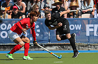 Stephen Jenness during the Olympic Qualifier Hockey match between the Blacksticks Men and Korea at TET Multisport Centre in Stratford, New Zealand on Saturday, 2 November 2019. Photo: Simon Watts / www.bwmedia.co.nz
