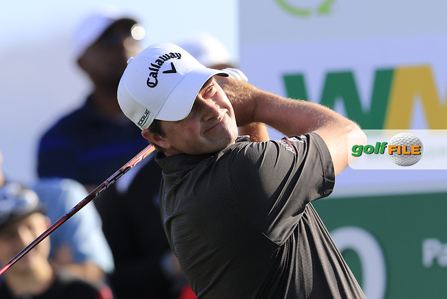 Brian Stuard (USA) tees off the 10th tee to start his match during Sunday's Final Round of the Waste Management Phoenix Open 2018 held on the TPC Scottsdale Stadium Course, Scottsdale, Arizona, USA. 4th February 2018.<br /> Picture: Eoin Clarke | Golffile<br /> <br /> <br /> All photos usage must carry mandatory copyright credit (&copy; Golffile | Eoin Clarke)