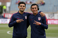 Chester, PA - Monday May 28, 2018: Alejandro Guido, Rubio Rubin during an international friendly match between the men's national teams of the United States (USA) and Bolivia (BOL) at Talen Energy Stadium.