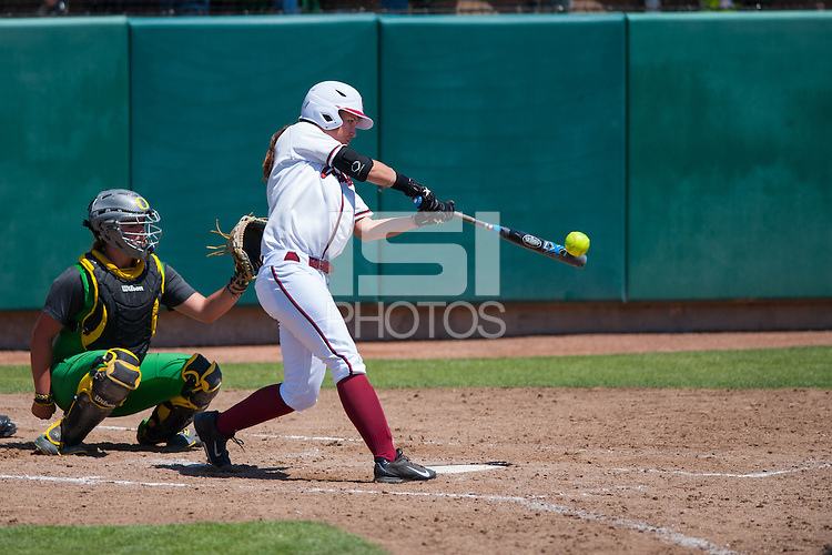 Stanford, CA, April 26, 2014<br /> Stanford Women's Softball vs. Oregon at Boyd &amp; Jill Smith Family Stadium. Stanford lost 7-2.