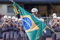 SÃO PAULO, SP, 06.10.2018 - SÃO PAULO-PALMEIRAS- Banda da Polícia Militar durante partida contra o Palmeiras em jogo válido pela 28ª rodada do Campeonato Brasileiro 2018 no Estádio do Morumbi em São Paulo, neste sábado, 06. (Foto: Anderson Lira/Brazil Photo Press)