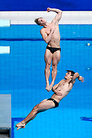 Picture by Rogan Thomson/SWpix.com - 15/07/2017 - Diving - Fina World Championships 2017 -  Duna Arena, Budapest, Hungary - Chris Mears and Jack Laugher of Great Britain compete in the Mens 3m Synchronised Springboard Final.