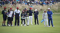 Padraig Harrington (Team Europe Vice-Captain) watching on the action at 18 during Sunday's Singles, at the Ryder Cup, Le Golf National, Île-de-France, France. 30/09/2018.<br /> Picture David Lloyd / Golffile.ie<br /> <br /> All photo usage must carry mandatory copyright credit (© Golffile | David Lloyd)