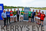 Attending the launch of the County Senior Hurling Championship in the Wetlands on Wednesday. L to r: Paudie Dineen (Co Hurling Officer), Rory Horgan (St Brendans), Shane Nolan (Crotta O'Neills), Jordan Brick (Kilmoyley), Tim Murphy (Chairman Kerry Co Comm), Darragh Shanahan (Lixnaw), Padraig Boyle (Ballyduff), Jim Garvey (Garveys Supervalu, Brian O'Donovan (Abbeydorney), Tommy Barrett (Causeway) and Danny Casey (Ballyheigue).