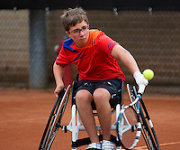 August 6, 2014, Netherlands, Rotterdam, TV Victoria, Tennis, National Junior Championships, NJK, Sam Schröder (NED) <br /> Photo: Tennisimages/Henk Koster