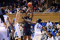 DURHAM, NC - NOVEMBER 29: Eleah Parker #31 of the University of Pennsylvania takes a shot during a game between Penn and Duke at Cameron Indoor Stadium on November 29, 2019 in Durham, North Carolina.