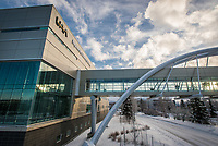 UAA's Engineering and Industry Building and sky walk over Providence Drive.