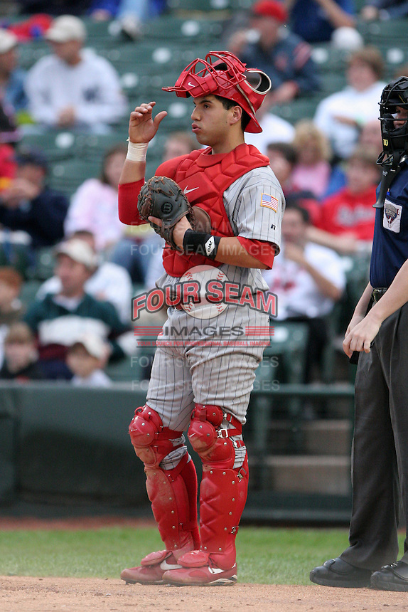 Scranton Wilkes-Barre Red Barons Jason Jaramillo during an International League game at Frontier Field on September 3, 2006 in Rochester, New York.  (Mike Janes/Four Seam Images)