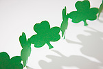 Green paper shamrocks