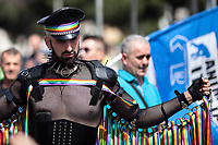 """Rome, 08/06/2019. Today, Hundreds of Thousands (700,000+ people for the organisers) of people took part in the annual """"Roma Pride"""" Parade organised by the """"Circolo di Cultura Omosessuale Mario Mieli"""". The LGBTQUI+ (Lesbian, Gay, Bisexual, Transgender, Queer or Questioning, and Intersex) parade marched from Piazza della Repubblica, Via Merulana, passed by the Colosseum and ended on the Fori Imperiali. <br /> <br /> For more information please click here: https://www.romapride.it/"""