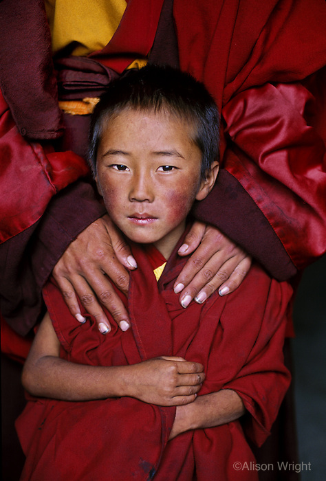 Tibet, Kham - Monks at Zunya Monastery, 2006
