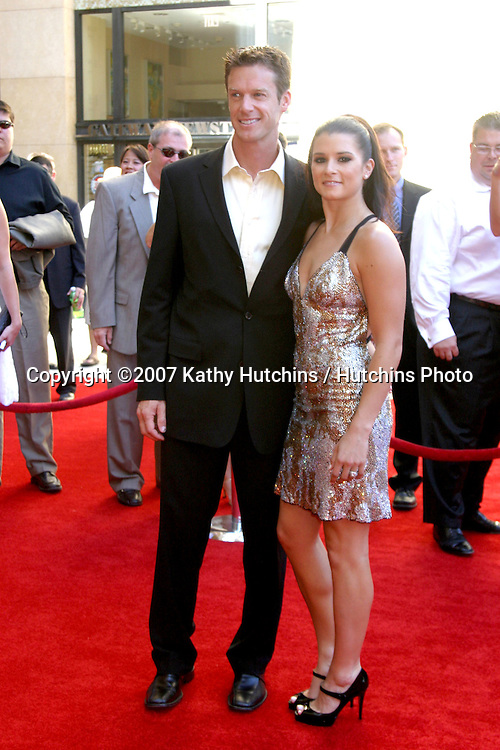 Danica Patrick & Husband.ESPY Awards 2007.Kodak Theater.Los Angeles, CA.July 11, 2007.©2007 Kathy Hutchins / Hutchins Photo....