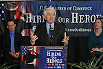 U.S. Chamber of Commerce President and CEO Tom Donohue speaks at the Hiring Our Heroes DC job fair for veterans and military spouses at Nationals Park on Wednesday, December 5, 2012 in Washington, DC. The U.S. Chamber of Commerce's National Chamber Foundation launched Hiring Our Heroes in March 2011 as a nationwide grassroots initiative that has helped more than 14,000 veterans and military spouses find jobs through more than 370 hiring fairs across the country. (Larry French/AP Images for National Chamber Foundation)..