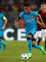 Calcio, Champions League, Gruppo E: Roma vs Barcellona. Roma, stadio Olimpico, 16 settembre 2015.<br /> FC Barcelona&rsquo;s Neymar in action during a Champions League, Group E football match between Roma and FC Barcelona, at Rome's Olympic stadium, 16 September 2015.<br /> UPDATE IMAGES PRESS/Riccardo De Luca<br /> <br /> *** ITALY AND GERMANY OUT ***