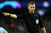 Referee Clement Turpin<br /> <br /> Photographer Rich Linley/CameraSport<br /> <br /> UEFA Champions League Round of 16 Second Leg - Manchester City v FC Schalke 04 - Tuesday 12th March 2019 - The Etihad - Manchester<br />  <br /> World Copyright &copy; 2018 CameraSport. All rights reserved. 43 Linden Ave. Countesthorpe. Leicester. England. LE8 5PG - Tel: +44 (0) 116 277 4147 - admin@camerasport.com - www.camerasport.com