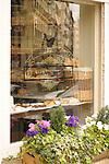 A cafe window in Madrid, Spain.