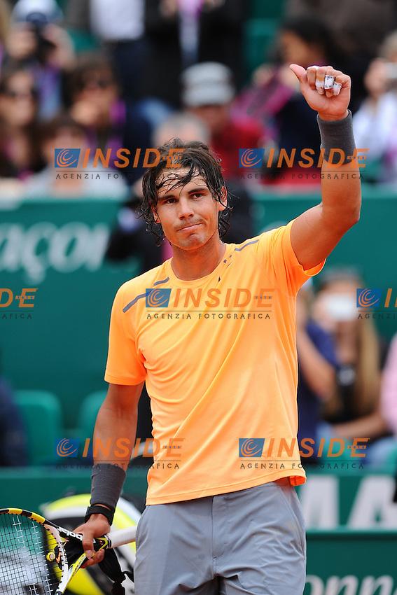 Rafael Nadal Spagna.Monaco Montecarlo 18/4/2012.Tennis Torneo ATP 1000 Master .Foto Insidefoto / Antoine Couvercelle / Tennismag / Panoramic