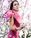 Sunday Mail  fashion with Mirella ,Pretty in  Pink.  Pink Blossom Location  North Adelaide Golf Course , Model Lucinda Nicholas . Photo: Nick Clayton