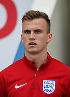 Rob Holding (Arsenal) of England during the International EURO U21 QUALIFYING - GROUP 9 match between England U21 and Norway U21 at the Weston Homes Community Stadium, Colchester, England on 6 September 2016. Photo by Andy Rowland / PRiME Media Images.