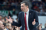 Brose Bamberg coach Luca Banchi during Turkish Airlines Euroleague match between Real Madrid and Brose Bamberg at Wizink Center in Madrid, Spain. April 06, 2018. (ALTERPHOTOS/Borja B.Hojas)