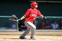 Team Canada Justin Marra #11 during a game vs the Nexen Heroes at Al Lang Field in St. Petersburg, Florida;  February 28, 2011.  Canada defeated Nexen 2-0.  Photo By Mike Janes/Four Seam Images