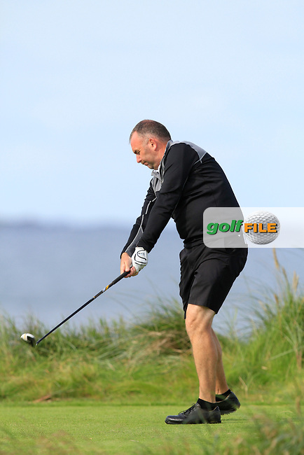 Kieran Kennedy (Thurles) on the 4th tee during Round 2 of The South of Ireland in Lahinch Golf Club on Sunday 27th July 2014.<br /> Picture:  Thos Caffrey / www.golffile.ie