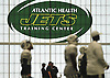 The New York Jets practice indoors during a rainy day of team training camp at Atlantic Health Jets Training Center in Florham Park, NJ on Sunday, July 31, 2016.