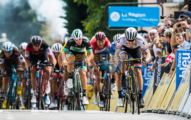 Daryl Impey (RSA) Mitchelton-Scott wins Stage 1 of the 2018 Criterium du Dauphine 2018 running 179km from Valence to Saint-Just-Saint-Rambert, France. 4th June 2018.<br /> Picture: ASO/Alex Broadway | Cyclefile<br /> <br /> <br /> All photos usage must carry mandatory copyright credit (© Cyclefile | ASO/Alex Broadway)