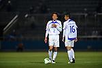 (L to R) Takahiro Yamaguchi (V Varen), Yudai Iwama (V Varen),.APRIL 17, 2013 - Football /Soccer : 2013 J.LEAGUE Division 2 ,9th sec match between Yokohama FC 1-2 V Varen Nagasaki at NHK Spring Mitsuzawa Football Stadium, Kanagawa, Japan. (Photo by Jun Tsukida/AFLO SPORT).