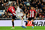 Sergio Ramos of Real Madrid and Inigo Martinez of Athletic Club during La Liga match between Real Madrid and Athletic Club de Bilbao at Santiago Bernabeu Stadium in Madrid, Spain. December 22, 2019. (ALTERPHOTOS/A. Perez Meca)