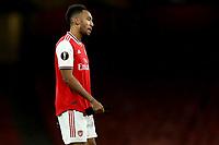 28th November 2019; Emirates Stadium, London, England; UEFA Europa League Football, Arsenal versus Frankfurt; A dejected Pierre-Emerick Aubameyang of Arsenal after the 1-2 loss - Editorial Use