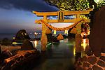 Onsen, hot spring, in a hotel in Sakurajima.<br /> <br /> Onsen, source thermale, dans un h&ocirc;tel &agrave; Sakurajima. Japon.
