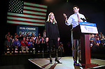 Republican Vice-Presidential candidate, Congressman Paul Ryan and his wife Janna appear at a campaign rally in Reno, Nev., on Thursday, Nov. 1, 2012. .Photo by Cathleen Allison